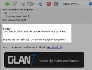 Témoignage Glan7 lotion pour homme