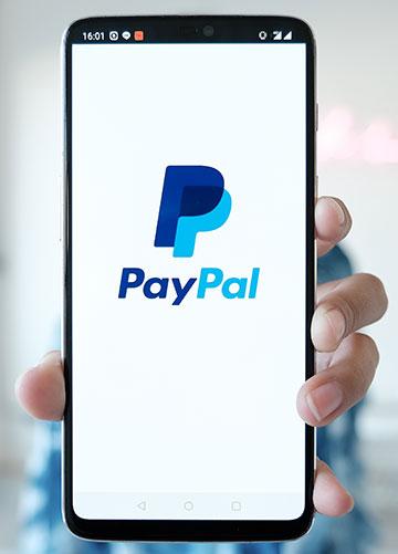 paypal logo ecran smartphone